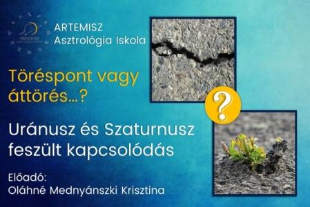 Uránusz és Szaturnusz feszült kapcsolódás Artemisz Asztrológia Debrecen